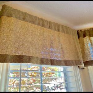 Other - NWT Burlap Curtain Valance 16 x 72 Farmhouse Cool